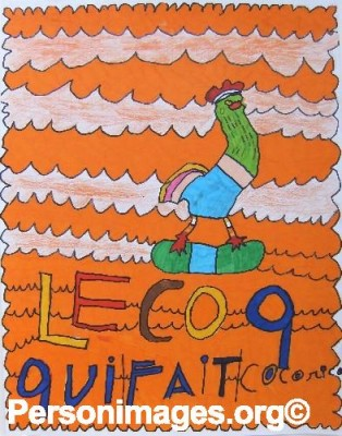 Le coq-rugby - Guillaume FEAT - 50x65